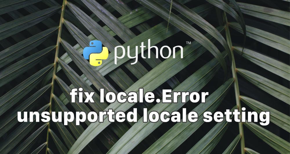fix locale.error on linux