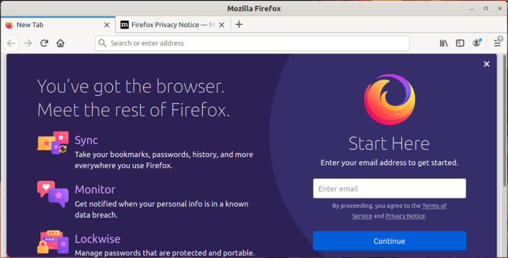 Firefox AppImage is running now