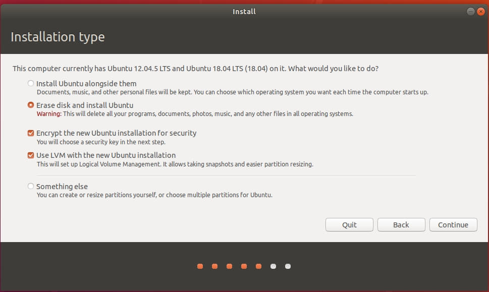 """partitioning - Ubuntu installer with two disks: whihc one will be selected  by """"erase disk and install"""" - Ask Ubuntu"""