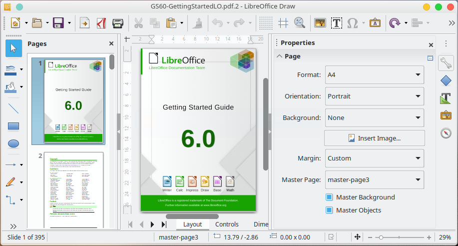 Edit PDF files using LibreOffice Draw for Free