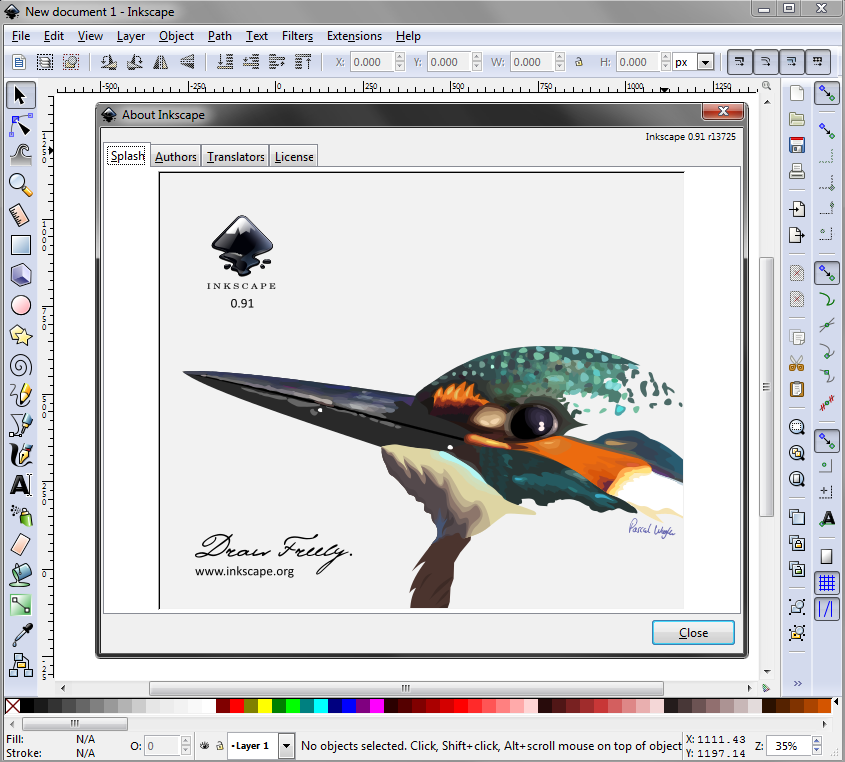 Inkscape interface